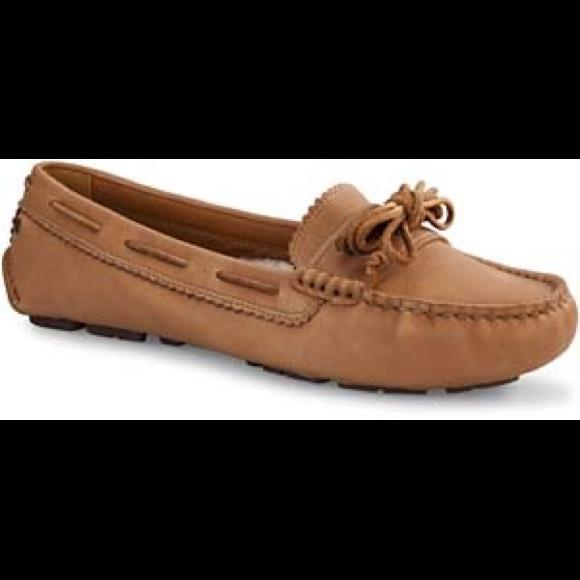74a80a79afe Ugg Meena moccasins slipper shoe chestnut leather